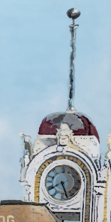 Available \\ SANTA ANA CLOCK TOWER No. 1 \\ 20x40 \\ James C. Gray