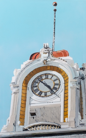 Available \\ SANTA ANA CLOCK TOWER No. 2 \\ 30x48 \\ James C. Gray