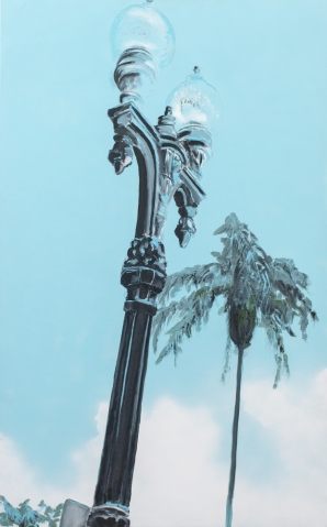 Available \\ LAMPPOST \\ 30x48 \\ James C. Gray